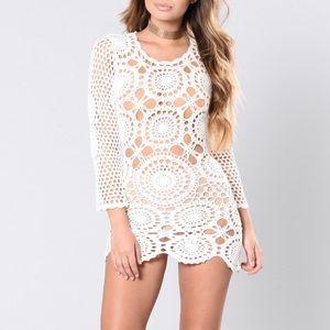 Long Sleeve Crochet Dress